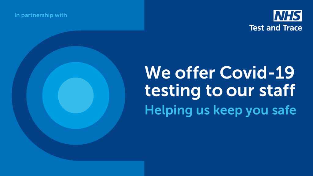 We offer Covid-19 testing to our staff