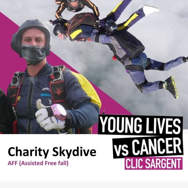 Charity Assisted Skydive Collage