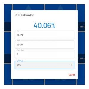 SIAN Store Features - POR Calculator