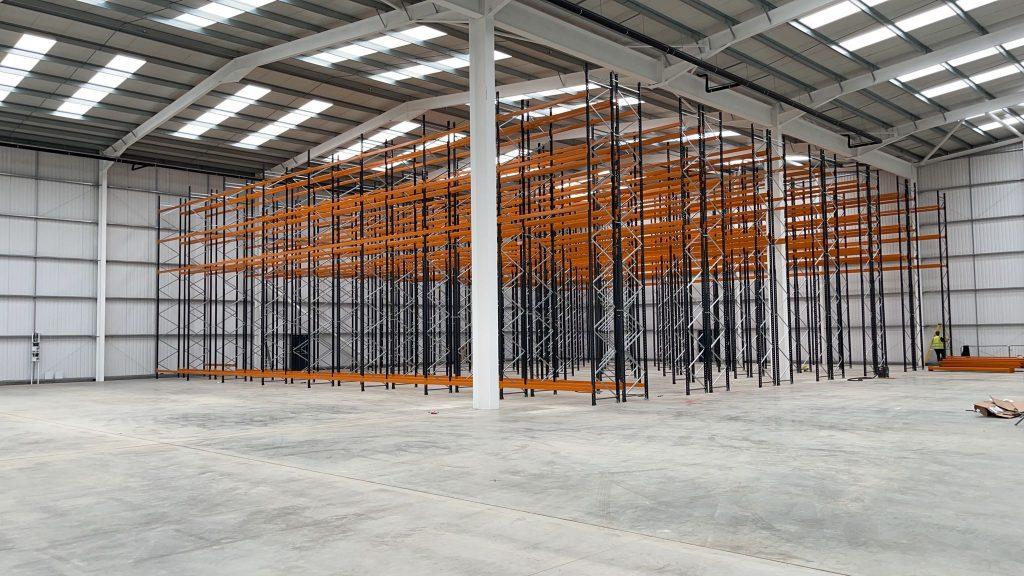 New warehouse racking installation